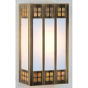 Glasgow Large Gold and White Opalescent Sconce