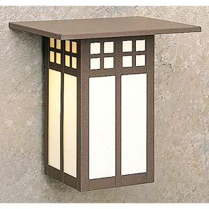 Glasgow Small Cream Outdoor Wall Mount