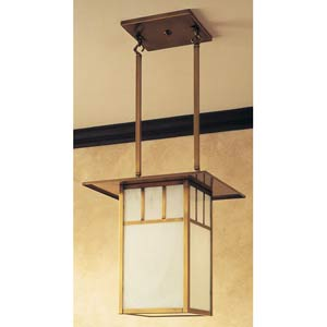 Huntington Small White Opalescent T-Bar Lantern Pendant