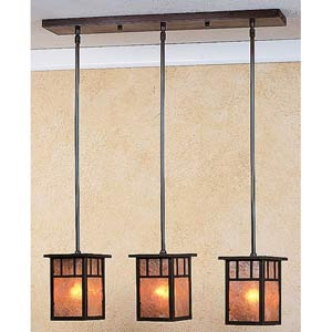 Huntington Almond Mica T-Bar Three-Light Mini Pendant