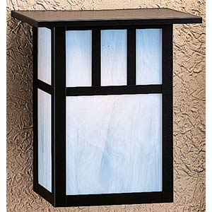 Huntington Medium White Opalescent T-Bar Outdoor Sconce