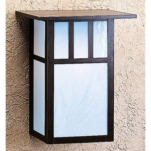 Huntington Large White Opalescent T-Bar Outdoor Sconce