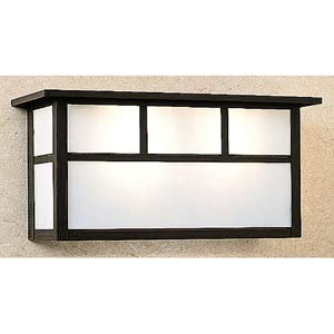 Huntington White Opalescent T-Bar Short Outdoor Sconce