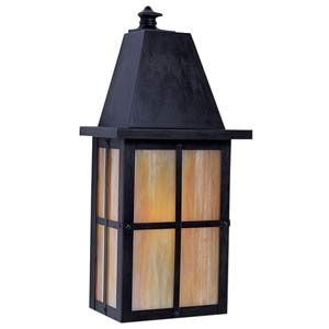 Hartford Gold White Iridescent Long Outdoor Wall Mount