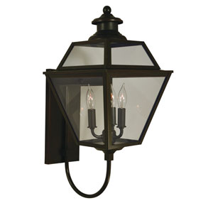 Inverness Bronze Three-Light Outdoor Wall Mount