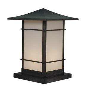 Katsura Medium White Opalescent Toshi Outdoor Pier Mount