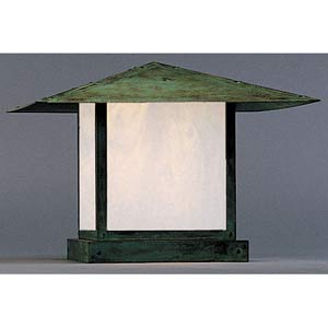 Monterey Large White Opalescent Outdoor Post Mount