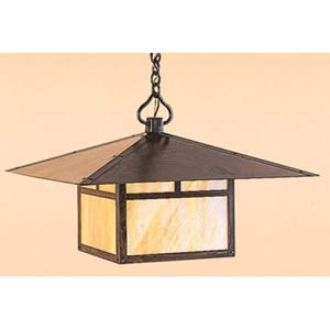 Monterey Large Gold White Iridescent T-Bar Outdoor Pendant