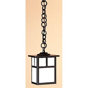 Mission Extra Small White Opalescent T-Bar Outdoor Pendant