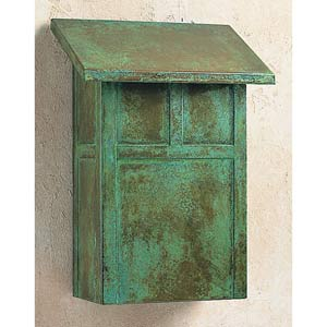 Mission Verdigris Patina Mail Box - Vertical
