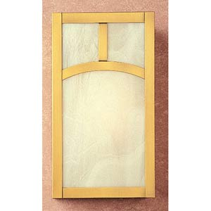 Mission White Opalescent Classic Arch Flush Sconce