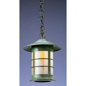 Newport Small Gold White Iridescent Outdoor Pendant