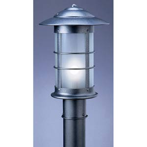 Newport Small Frosted Long Outdoor Post Mount