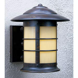 Newport Small Tan Outdoor Sconce