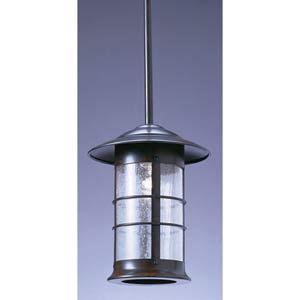 Newport Small Clear Seedy Long Outdoor Stem Mount Pendant