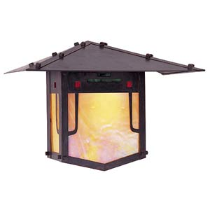 Pagoda Medium Bronze Outdoor Wall Mount