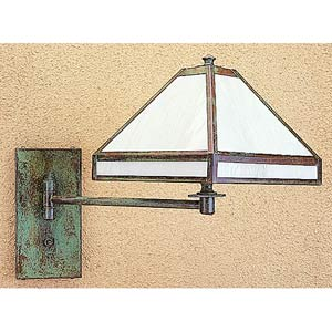Pasadena White Opalescent Swing Arm Wall Mount