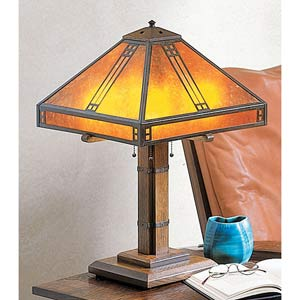 Prairie Large Amber Mica Table Lamp