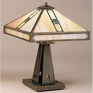 Pasadena Large Gold White Iridescent Oak Tree Table Lamp