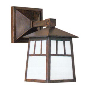 Raymond White Opalescent Outdoor Wall Mount