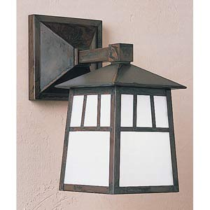 Raymond Small White Opalescent Outdoor Wall Mount
