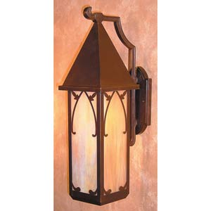 Saint George Large Gold White Iridescent Outdoor Wall Mount