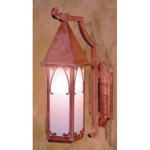 Saint George Small White Opalescent Outdoor Wall Mount