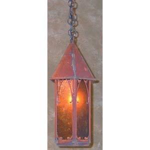Saint George Small Amber Mica Lantern Pendant