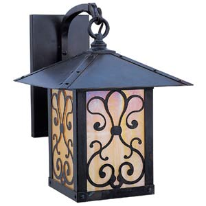 Timber Ridge Gold White Iridescent Ashbury Outdoor Sconce