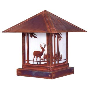 Timber Ridge White Opalescent Deer Outdoor Post Mount
