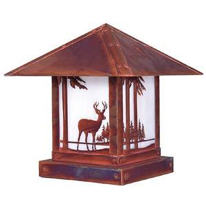Timber Ridge White Opalescent Deer Outdoor Post Mount