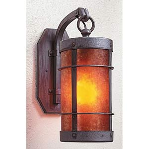 Valencia Medium Amber Mica Sconce