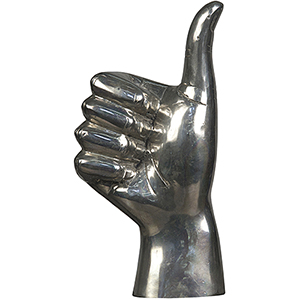 Silver Thumbs Up Figurine