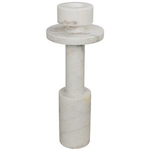 Shine White Stone Candle Holder