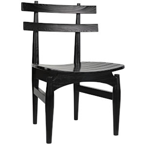 Azumi Charcoal Armless Chair