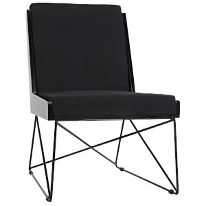Wiki Black Armless Chair