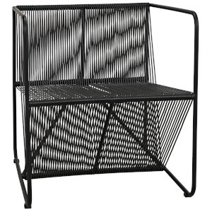 Dudu Black Vinyl Cord 28-Inch Occasional Chair