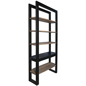 Winston Black Metal Bookcase