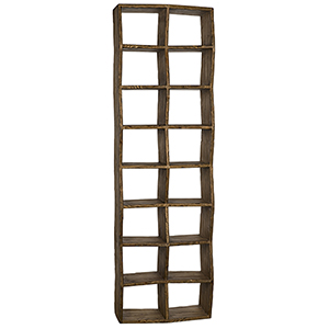 Zig Zag Small Old Wood Bookcase