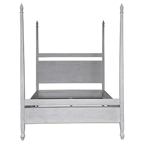 Venice White Wash 80-Inch King Bed
