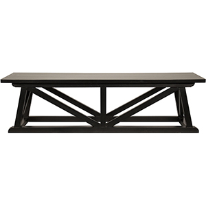 Sutton Hand Rubbed Black Bench