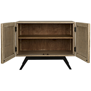 Illusion Bleached Walnut 40-Inch Sideboard