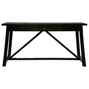 Sutton Distressed Black Desk
