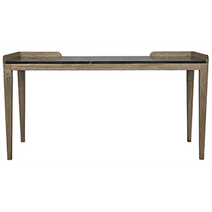 Wod Ward Bleached Walnut Desk with Stone Top