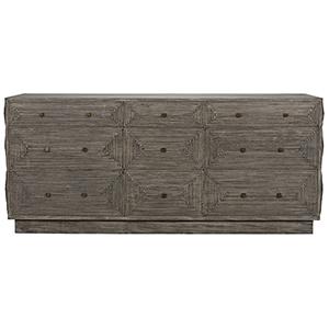 Baram Distressed Gray Dresser