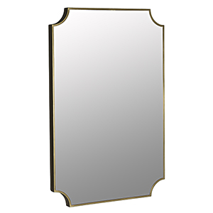 Convexed Metal Antique Brass Mirror
