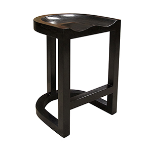 Saddle Hand Rubbed Black Counter Stool