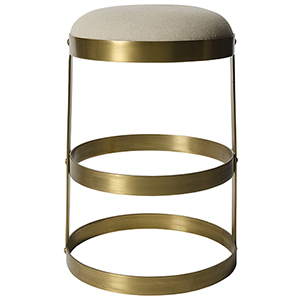 Dior Antique Brass Counter Stool