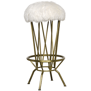 Marsha Metal with Brass Finish Bar Stool