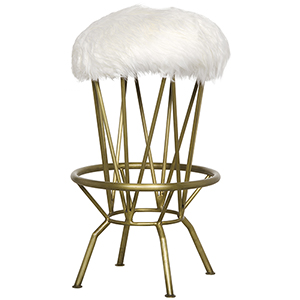 Marsha Metal with Brass Finish Counter Stool